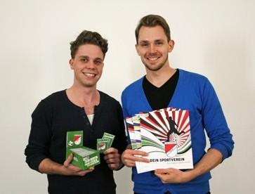 Die beiden Sportmanager vom Startup myfoozaa bei ihrem Sportjob