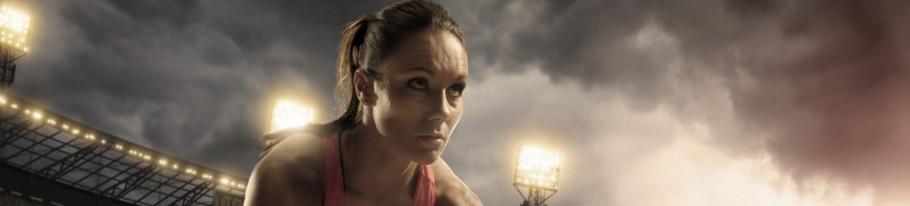 Sportlerin bei der Sportausbildung